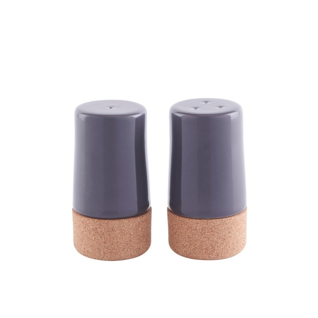 Storm Grey Salt and Pepper Shaker Set | Sustainable Cork and Ceramic | LIGA