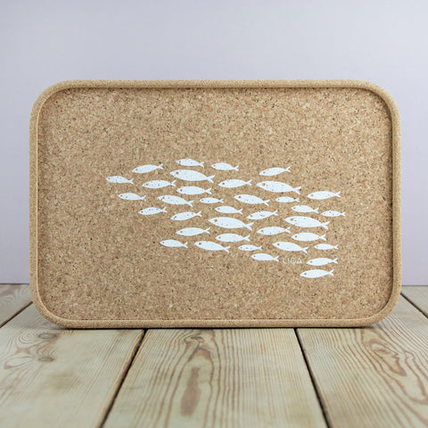 Cork Drinks Tray | Fish
