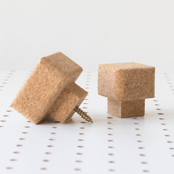 Square Cork Knob | Medium
