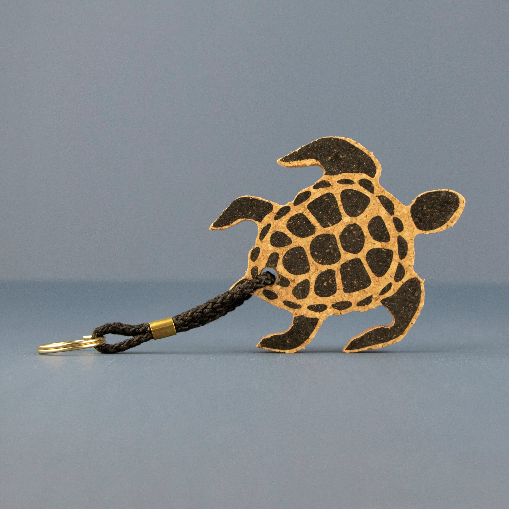 Cork Turtle Keyring