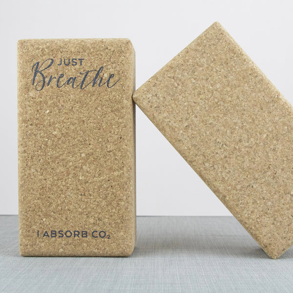 Cork Yoga Blocks | Just Breathe Gift Set
