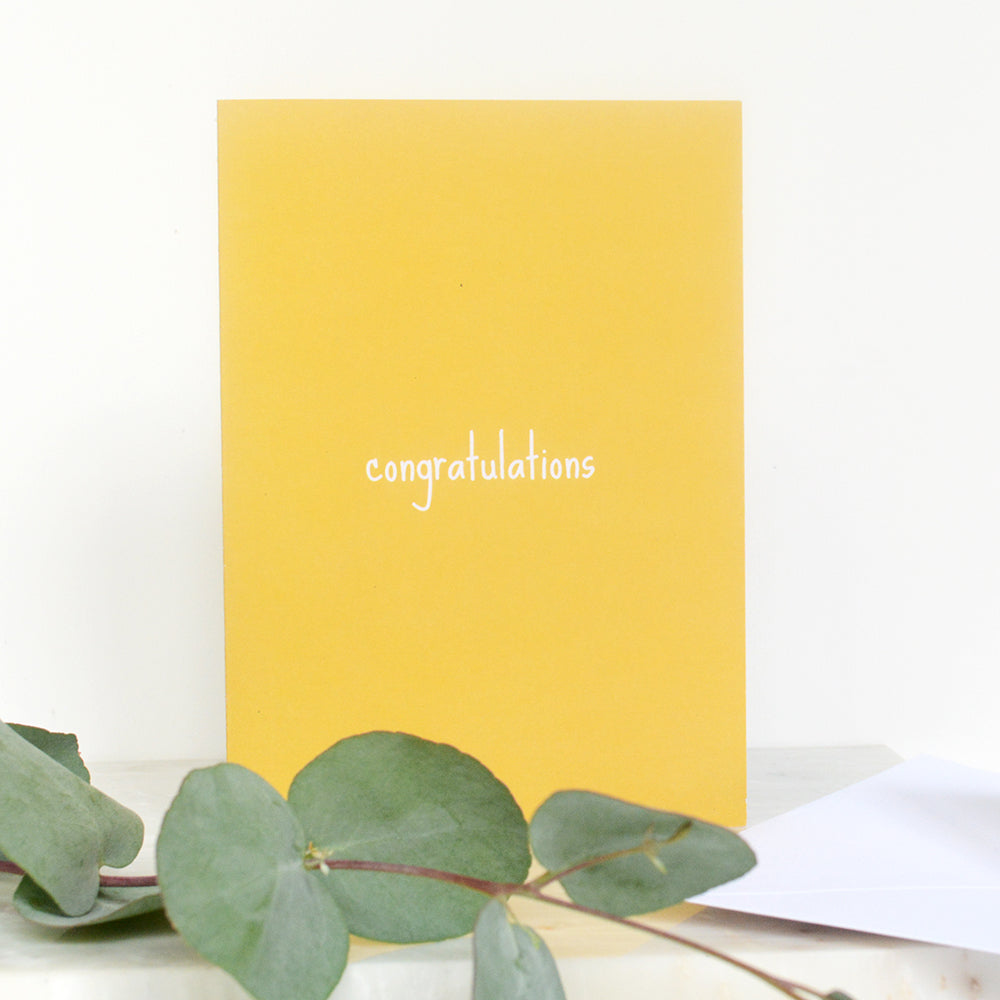 A6 Congatulations Card | Mustard Yellow | LIGA