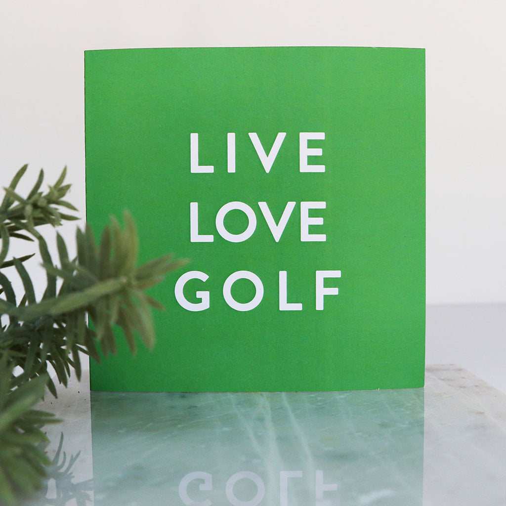 Green Live Love Golf LIGA Recycled Square Card