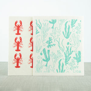Eco Dishcloths Lobster/Seaweed