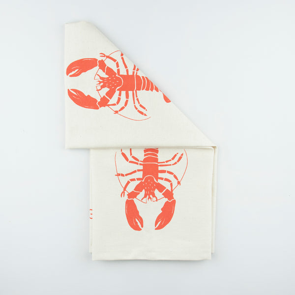 Organic Lobster Tea Towel | Red