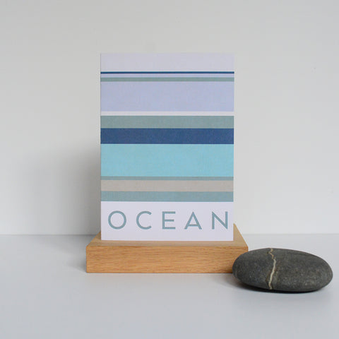 LIGA A6 Ocean Card Blue, Grey and Neutral Stripes
