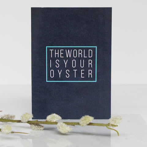 The World Is Your Oyster Card A6 | Navy Blue | LIGA