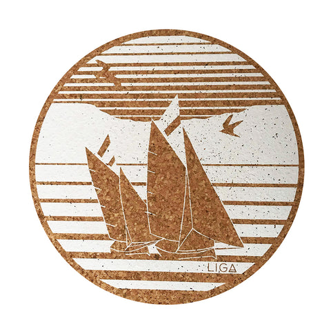 S/4 Cork Coasters | Regatta Boat