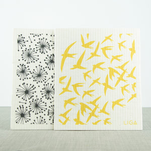 Eco Dishcloths Dandelion/Swallow