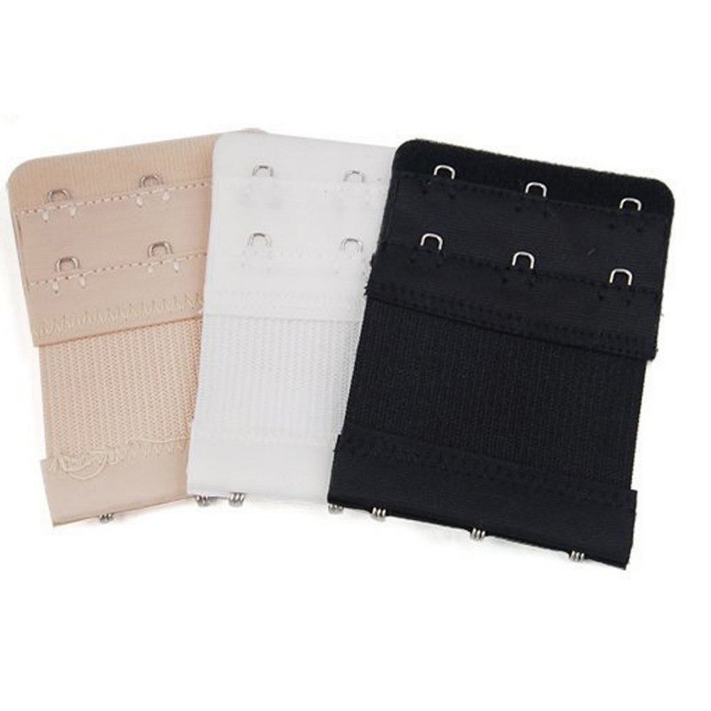 3 Pack 3 Hook Bra Extenders - Black, White & Nude - Blu Apparel