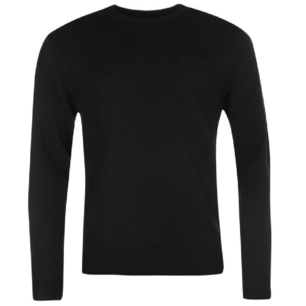 Pierre Cardin Crew Neck Jumper Black