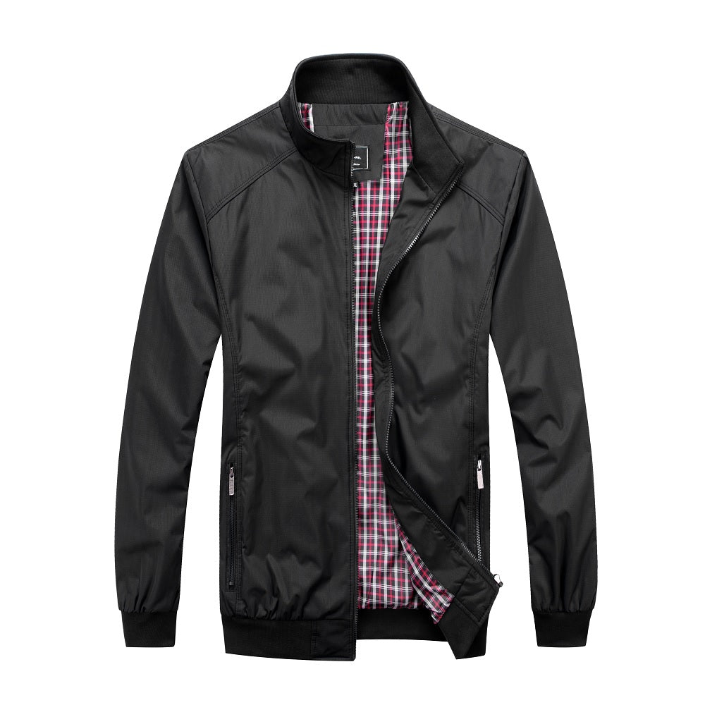 Falcon Harrington Jacket - Black - Blu Apparel
