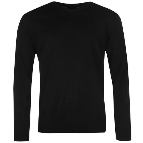 Pierre Cardin V Neck Jumper - Grey