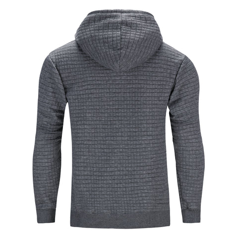 Nathan Textured Hoodie - Charcoal