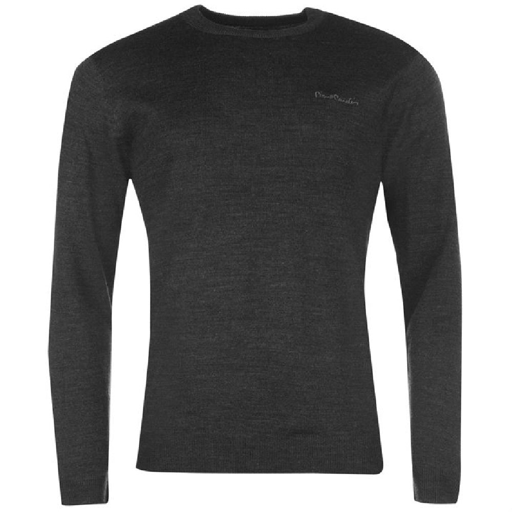 Pierre Cardin Crew Neck Jumper - Black - Blu Apparel