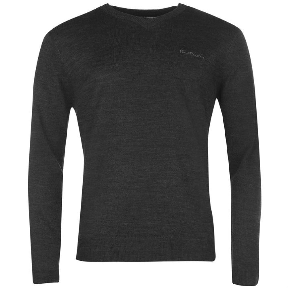 Pierre Cardin V Neck Jumper Charcoal