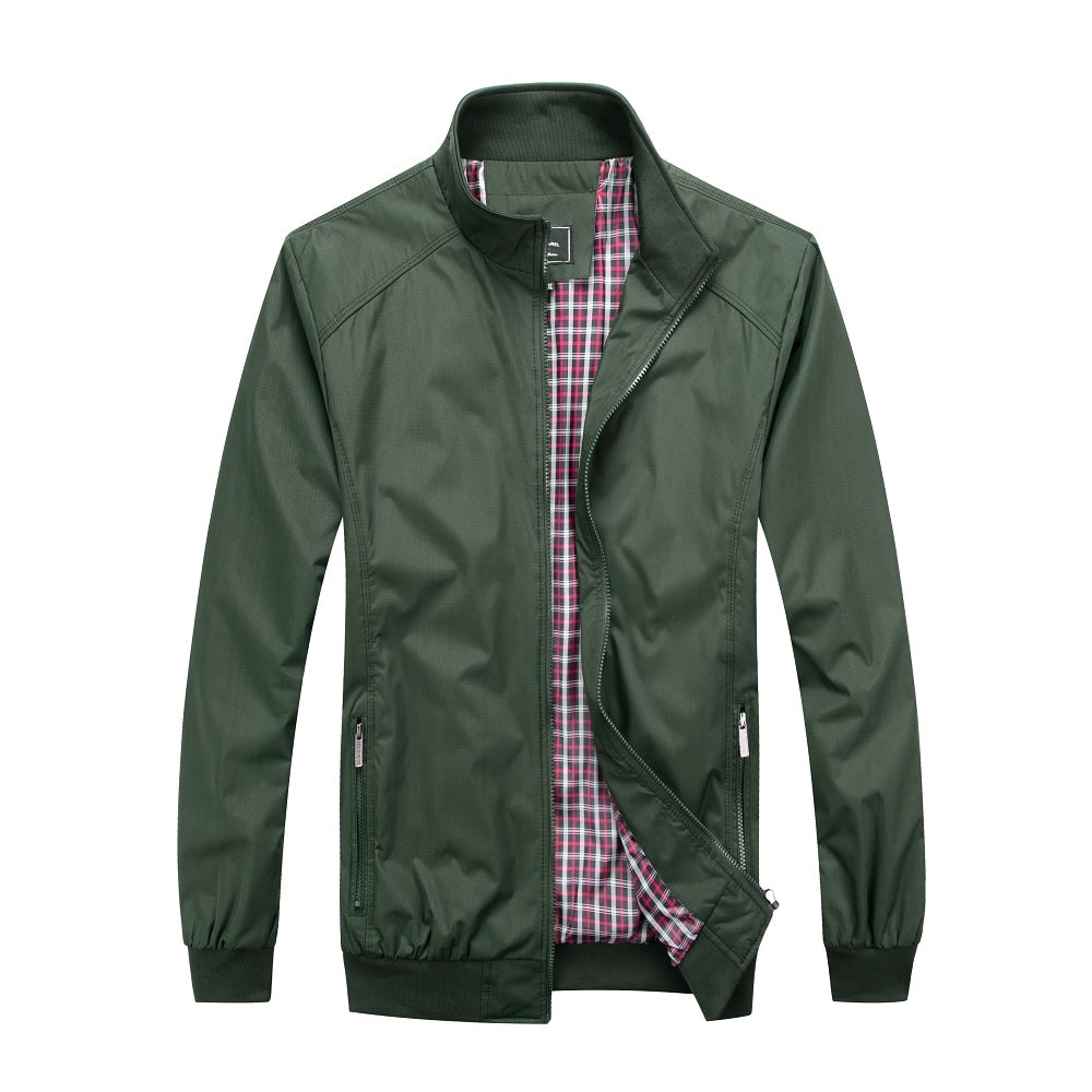Falcon Harrington Jacket - Green - Blu Apparel