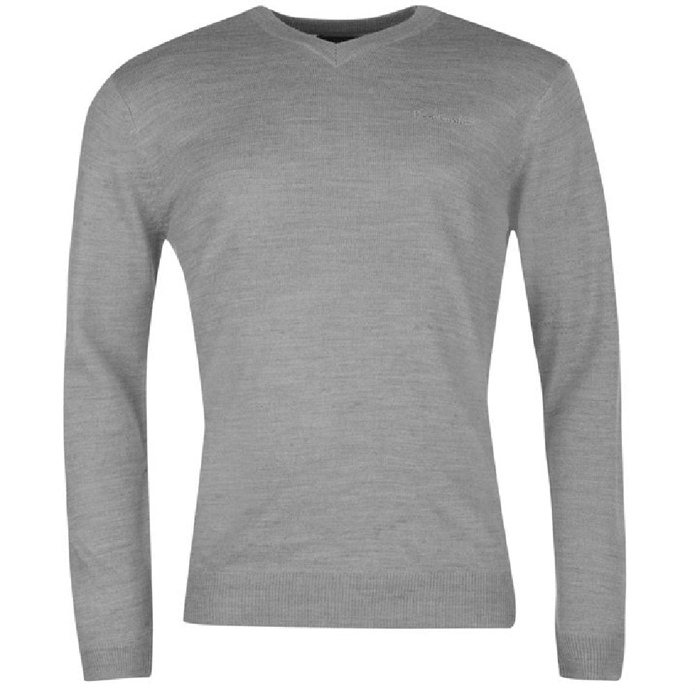 Pierre Cardin V Neck Jumper - Grey - Blu Apparel