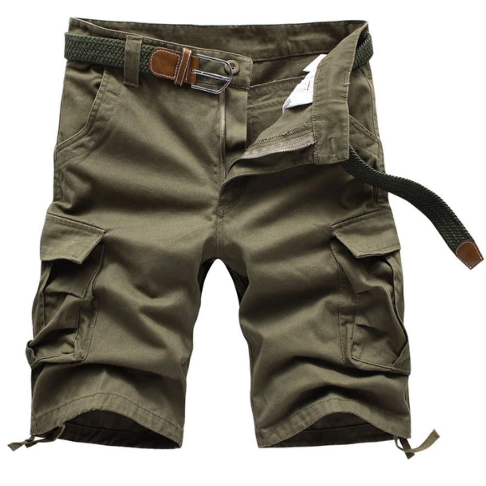 Preston Cargo Shorts - Beige - Blu Apparel