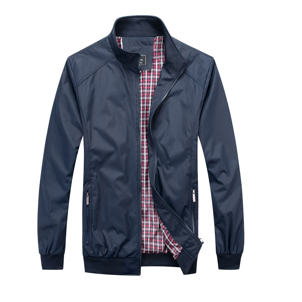 Falcon Harrington Jacket - Navy - Blu Apparel
