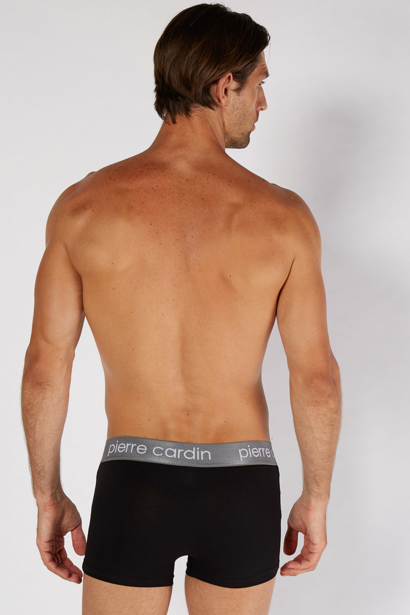 Pierre Cardin 3 Pack Boxers - Black/ Grey/ Navy - Blu Apparel