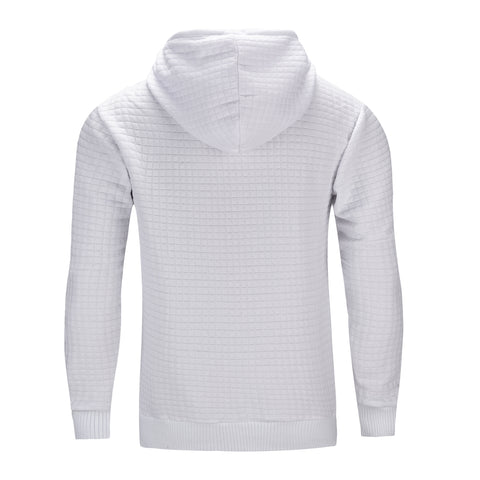 Nathan Textured Hoodie - White