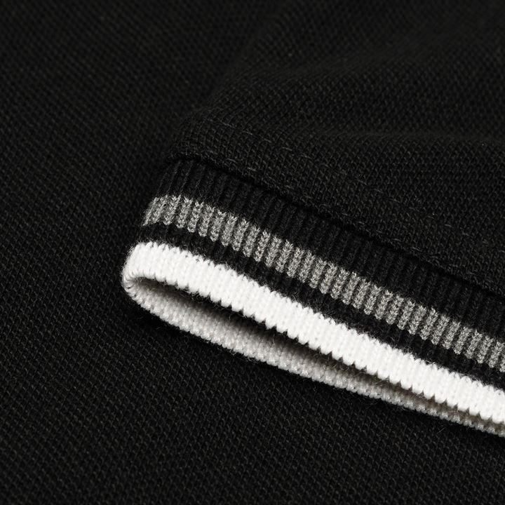 Pierre Cardin Tipped Polo - Black