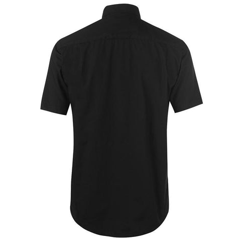Mens Pierre Cardin Short Sleeve Shirt - Black