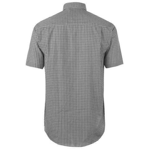 Mens Pierre Cardin Short Sleeve Shirt - Black Check
