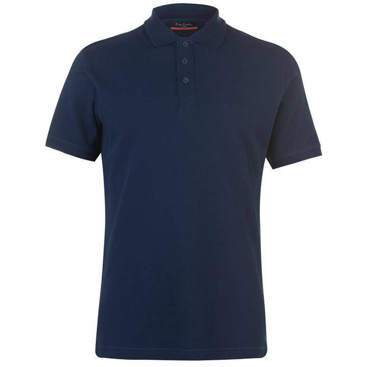 Pierre Cardin Plain Polo - Black - Blu Apparel