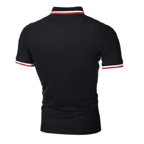 Hudson Mock Pocket Polo - Black
