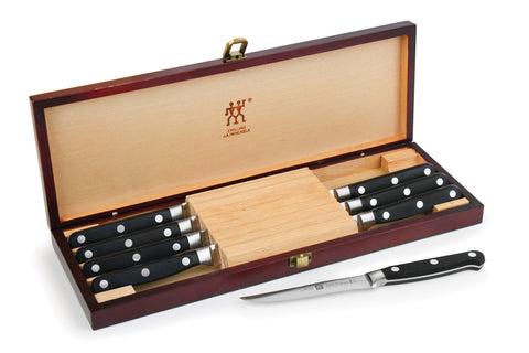 Zwilling J.A. Henckels Professional S Steak Knife Set with Rosewood Case