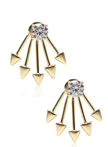 LeCalla Back Lobe Ear Jacket Earrings
