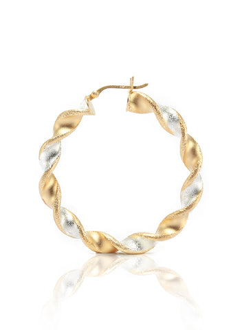 LeCalla Twisted Hoop Earrings in Sterling Silver