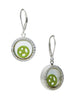 Peace Symbol Looking Glass Dangler Earrings - Sterling Silver - LeCalla