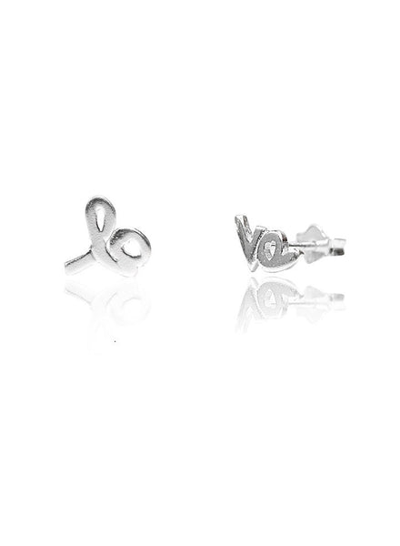 Valentine Love Mismatch Stud Earring - Sterling Silver - LeCalla
