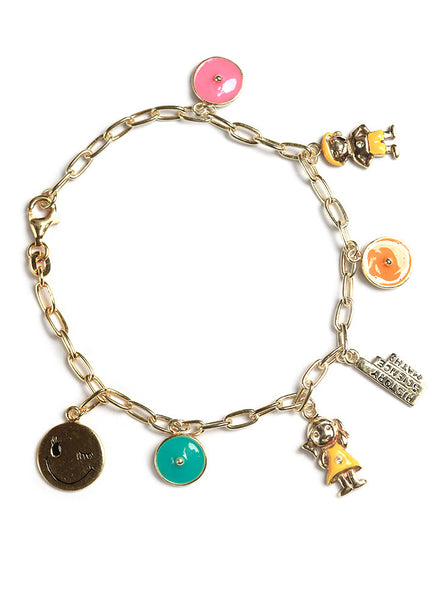 Back to School Charm Bracelet - Sterling Silver - LeCalla