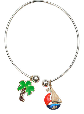 Beach Destination Charm Bangles - Sterling Silver - LeCalla