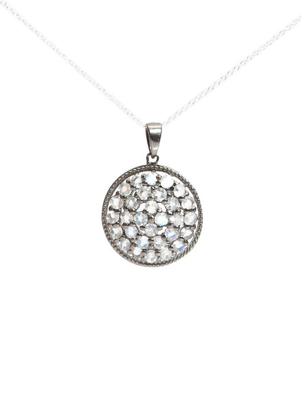 Moonstone Radiance Pendant - Sterling Silver - LeCalla