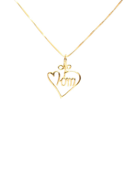 Love You Mom Pendant - Sterling Silver - LeCalla