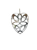 The Lacy Heart Dangler Earring - 925 Silver - LeCalla