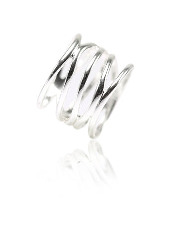 Branch Out Vibrant Ring - Sterling Silver - LeCalla