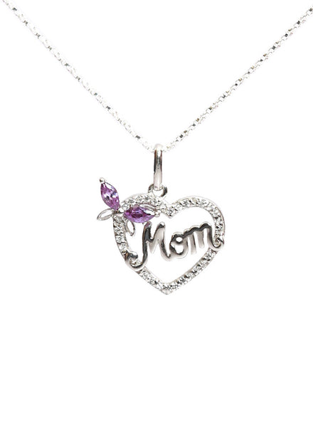 Mom My Angel Pendant - Sterling Silver - LeCalla