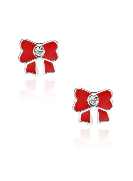 Take a bow kids stud earring - Sterling Silver - LeCalla