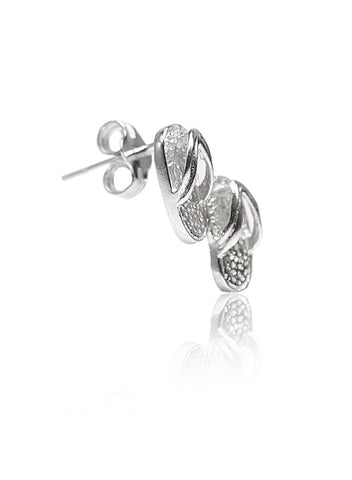 Beach Passion Stud Earrings - Sterling Silver - LeCalla