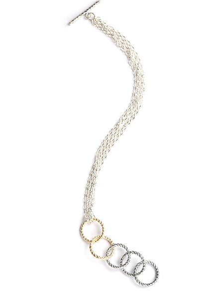 Hollow Links Silver Bracelet - Sterling Silver - LeCalla.in
