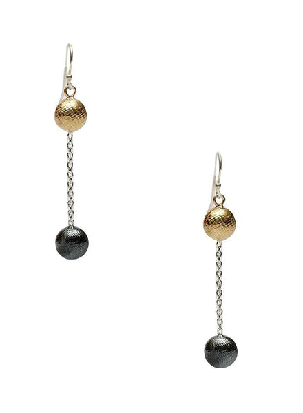 Double Delight Dangler Earrings - Sterling Silver - LeCalla