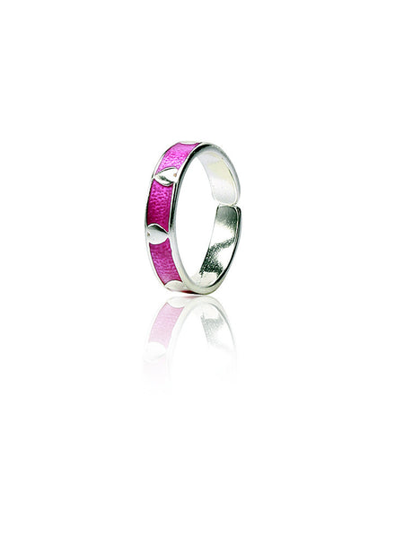 Purple Passion Toe Ring - Sterling Silver - LeCalla