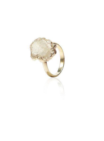 Aesthetic Appeal Druzy Ring - Sterling Silver - LeCalla