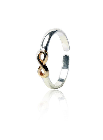 Infinity Fashion Toe Ring - Sterling Silver - LeCalla